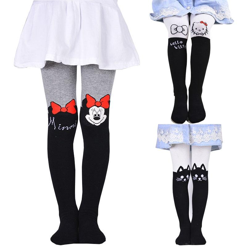 2019 Girl's Minnie Stockings Fashion Tight Solid Cute Cartoon Designs Children Girls Stockings Girls Pantyhose Kawaii Tights