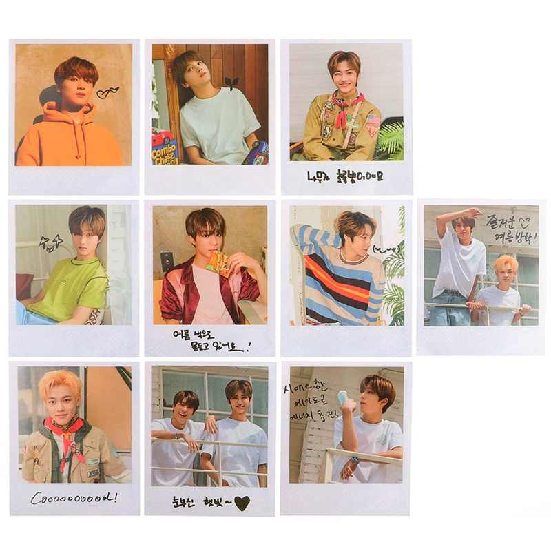 10Pcs/Set KPOP NCT Dream Photo Card Poster Lomo Cards Self Made Paper Photocard Fans Gift Collection