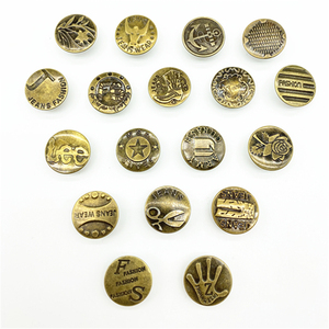 20pcs 20mm Bronze Fashion Metal Jeans Button Shank Button for Garment Pants Sewing Clothes Accseeories Handmade