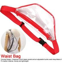 2019 New Women Simple Transparent Waist Bags Fashion PVC Fanny Pack Waterproof Crossbody Bag