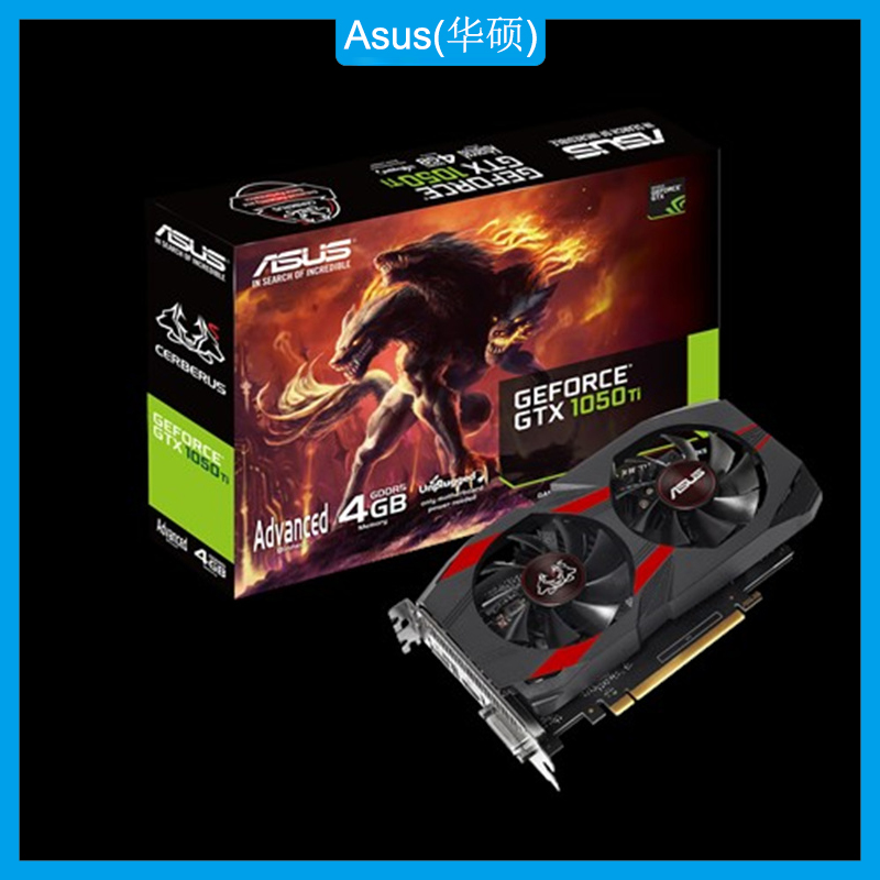 Asus CERBERUS-GTX1050TI-A4G Graphics Card NVIDIA GeForce GTX 1050 Ti Advanced Edition 4GB GDDR5 Gaming Video Card 1