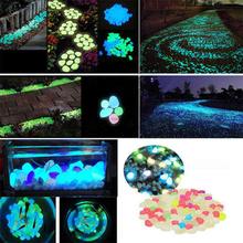 100 sztuk ogród fish tank świecące kolorowe kamyki chodnik kamyki ścieżka ogrodowa trawnik świecące kamyki mieszane kolor świecące kamyki tanie tanio YP79161 Żywica luminous stones Garden Decor Glowing Stones about 2 3cm