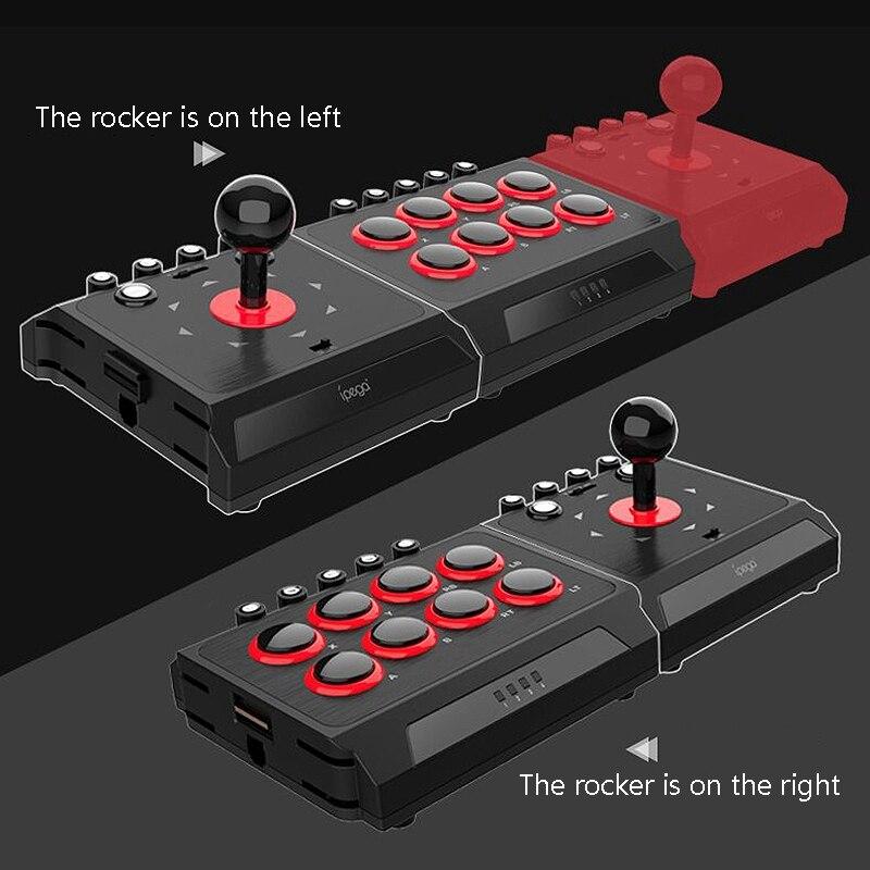 Contrôleur de jeu de bâton de combat de Station d'arcade de Joystick de combat câblé par USB de DC5V avec la Macro de Turbo pour le commutateur PS4/PS3/NS/Android/PC - 3