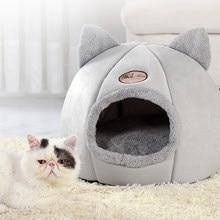 Panier doux pour maison de chat, tente pour animaux de compagnie, sommeil profond, lit grotte confortable, fournitures d'intérieur pour animaux de compagnie