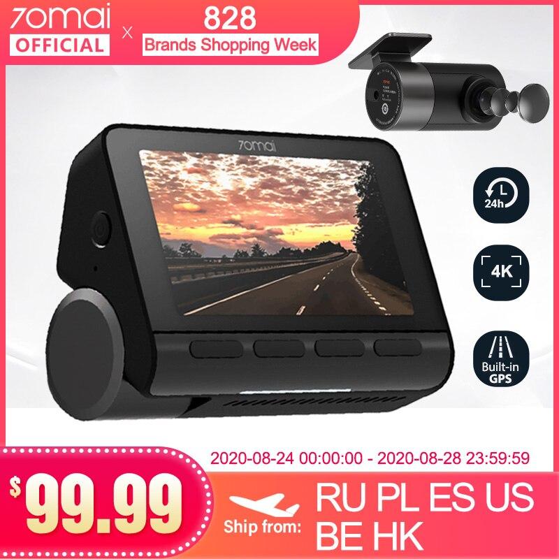 70mai 4k traço cam a800 embutido gps adas 4k câmera uhd cinema-imagem de qualidade 24h estacionamento monitior sony imx415 140fov