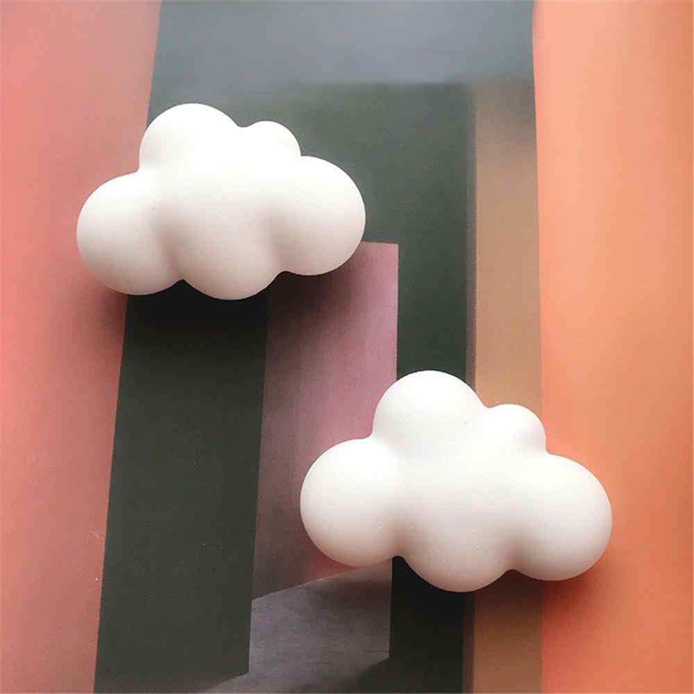 1pc 3D 雲の形のチョコレートシリコーン型ムースフォンダンアイスキューブ金型プディングキャンディー石鹸キャンドル金型ケーキ装飾
