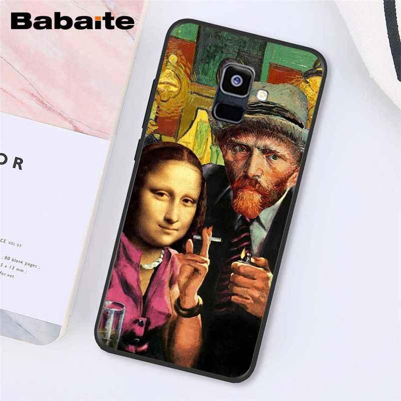 Babaite Van Gogh Mona Lisa komik sanat kız pearearing telefon kılıfı için Samsung Galaxy A7 A51 A71 A50 A70 A8 A3 a6 A6Plus A8Plus A9