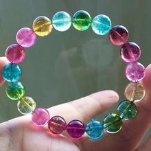 Top Quality Natural Colorful Tourmaline Quartz Round Beads 10.4mm Brazil Women Men Crystal Tourmaline AAAAAA Certificate