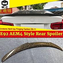 Performance High kick Forging Carbon fiber Trunk spoiler wing M4 style For BMW E92 M3 2 door hard top Rear Spoiler 2006-13