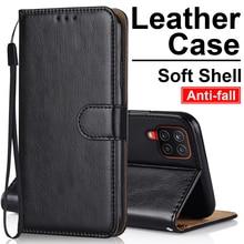 Leather Case For Samsung F62 M62 A72 A52 A32 A42 A01 M01 J2 J4 Core J5 J7 Prime S20 FE Plus Ultra A10 A11 A12 Wallet Flip Case