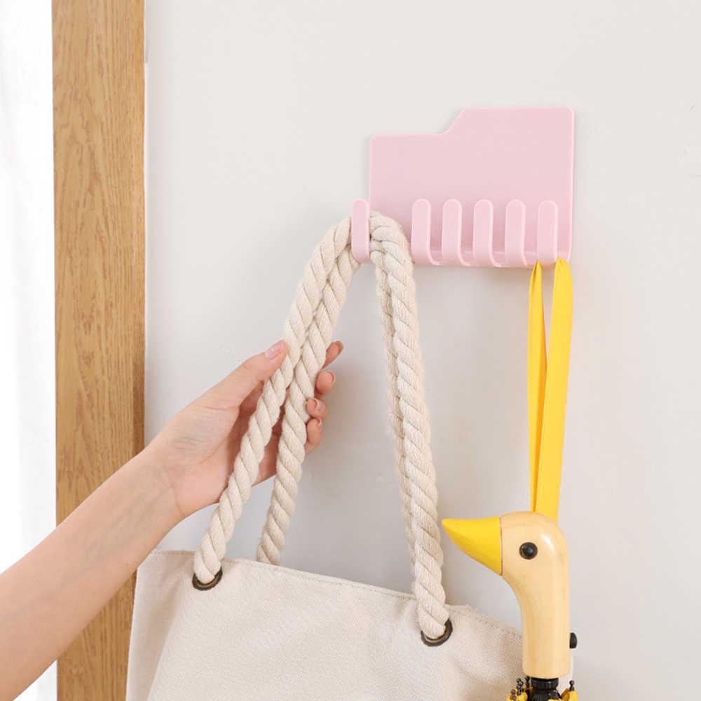 1PC Multifunktionale Klebstoff Razor Halter Zahnbürsten Regal Wand Montiert Rack Haken Aufhänger Für Dusche Küche Hause
