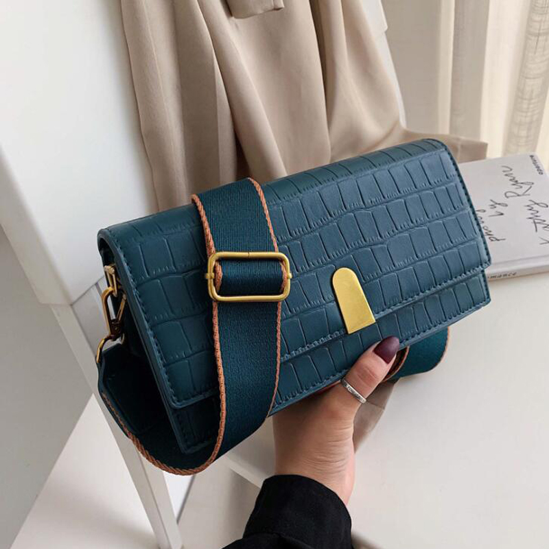 Vintage Fashion Female Bag New High Quality Leather Women's Designer Handbag Crocodile Pattern Ladies Shoulder Messenger Bags