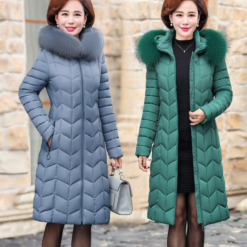 Длинный пуховик, хлопковая куртка, пальто для женщин, 2020, Зимняя мода, элегантная хлопковая парка, пальто размера плюс, женское Свободное пальто с хлопковой подкладкой|Парки|   | АлиЭкспресс