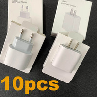 10pcs/20W OEM caricabatterie PD a ricarica rapida A2305 A1692 9V 2.22A per 11 12 Pro Max originale tipo C porta EU US 18w adattatore di alimentazione da viaggio