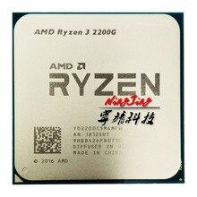 AMD Ryzen 3 2200G R3 2200G 3.5 GHz czterordzeniowy czterordzeniowy procesor CPU YD2200C5M4MFB gniazdo AM4