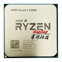 AMD Ryzen 3 2200G R3 2200G 3,5 ГГц четырехъядерный четырехпоточный процессор YD2200C5M4MFB разъем AM4
