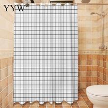 Nordic Style Bath Screens 3d Waterproof Shower Curtain Modern Peva White Clear Bathroom Luxury Curtains