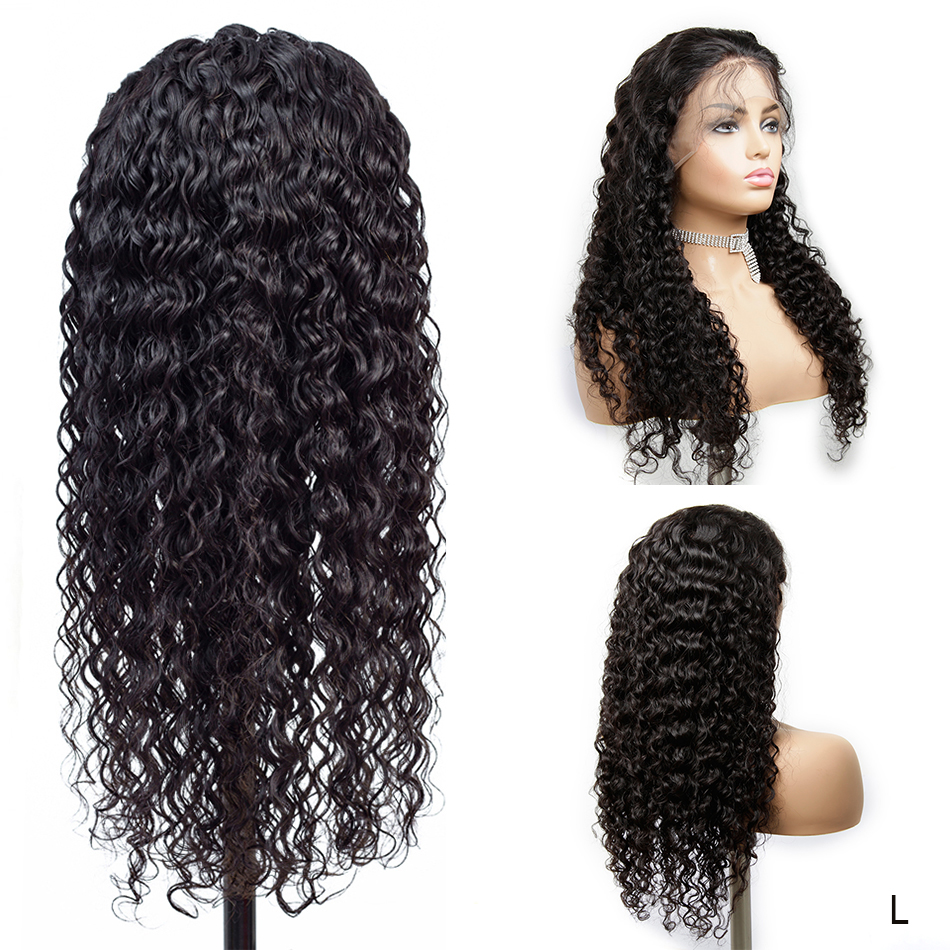 13x4 Remy Deep Curly Lace Front Wig Pre Plucked With Bang Real Human Hair Wigs For Black Women Ponytail My First Wig 150%