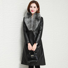 Genuine 2020 Leather Jacket Winter Jacket Women Fox Fur Collar Long Down Jackets for Women Real Sheepskin Coat MY4116 s(China)