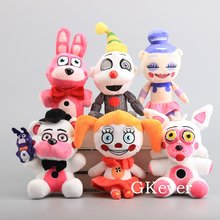 18-23cm FNAF Five Nights at Freddy 4 Sister Location-Funtime Freddy Foxy Bonnet Lolbit Ballora Plush Stuffed Toy Children Gift(China)