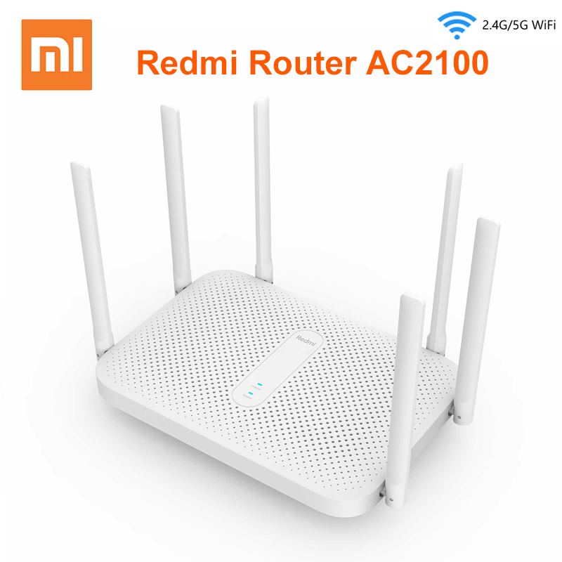 Xiaomi Redmi AC2100 Router Gigabit Dual-Band Router Wifi Repeater With 6 High Gain Antennas Wider Coverage Easy Setup