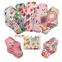 [Mumsbest] 7PCS Maternity Original Natural Bamboo Charcoal Overnight Cloth Panty Liners Menstrual Pads +1 Mini Bag Random Color