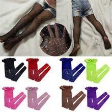 Hot Kids Baby Girls Rhinestone Fishnet Stockings Children Gi