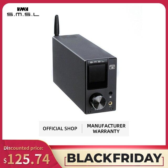 SMSL AD18 amplificateur Audio stéréo HI FI avec Bluetooth 4.2 prend en charge apt x, amplificateur de puissance numérique USB DSP 2.1 pour haut parleur