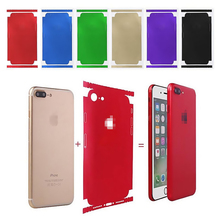 Durable Ice Film PVC Phone Stickers For iPhone 6 6S 7 7 Plus Back Film Protector Films Decal Sticker Adhesive Skin Cover Coque us flag pattern decorative pvc back protector sticker for iphone 6 plus 5 5 red deep blue
