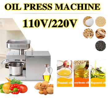 110V/220V automatic oil press machine,oil presser Home ,stainless steel seed oil extractor,Mini Cold hot oil press machine sg30 1 edible peanut oil press machine high oil extraction rate labor saving stainless steel oil presser for household