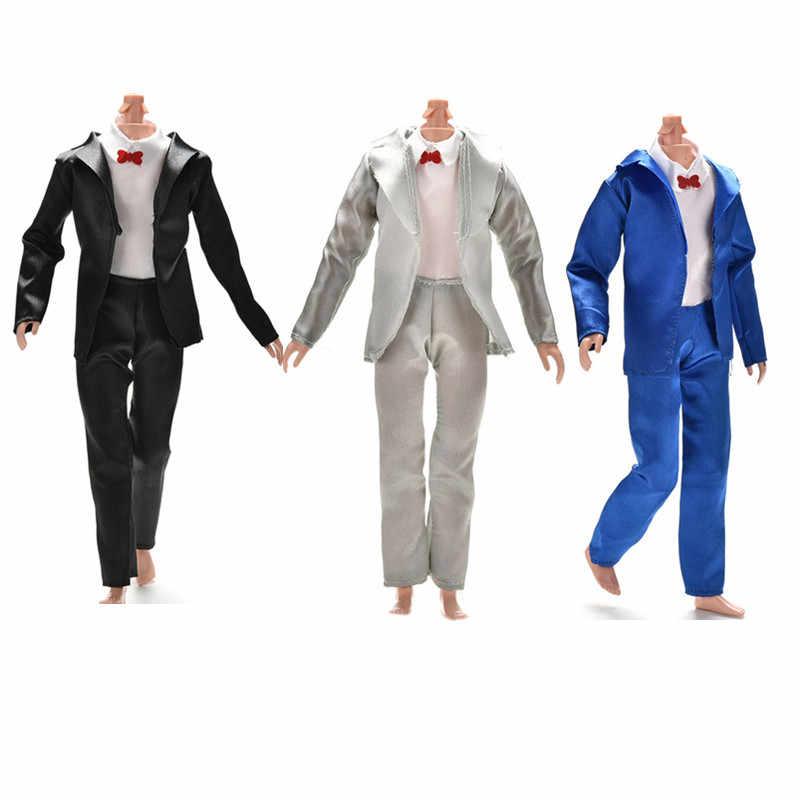 3 pièces/ensemble mode Prince Ken poupée vêtements costume de mode Cool tenue pour poupée garçon KEN poupée meilleur cadeau d'anniversaire pour enfants