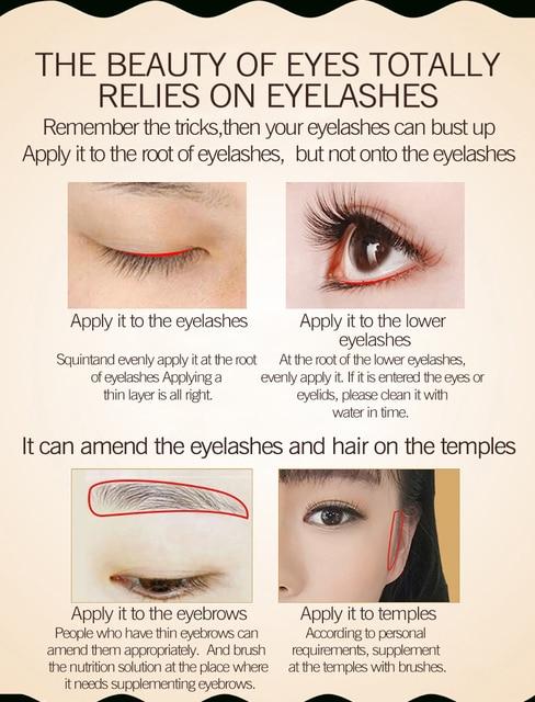 Eyelash Growth Serum Liquid Eyelash Enhancer Vitamin E Treatment lash lift Eyes Lashes Mascara Nourishing Eye CLOTHES OF SKIN 5