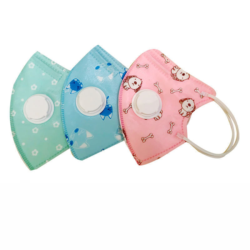 2pcs Children Mask Respiratory Valve 5 Layer Thicken Smog Mask Anti-dust Bacteria Proof Safe Mask Baby Kids Face Mask For 0-10T
