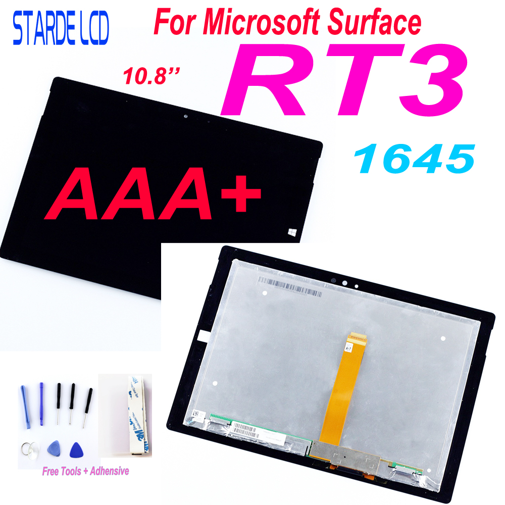 10.8''For Microsoft Surface 3 RT3 1645 LCD Display Touch Screen Panel Glass Sensor Replacement Surface RT 3 Parts