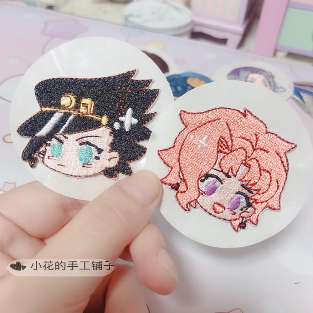 Anime Jojo's Bizarre Adventure Golden Wind Kakyoin Noriaki Cosplay Pins Embroidery Armband Patches Stickers DIY Badge Pendant