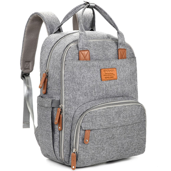 Diaper Bag Backpack Multifunction Travel Back Pack Maternity Baby Changing Bags Large Capacity Waterproof And Stylish Gray Bag