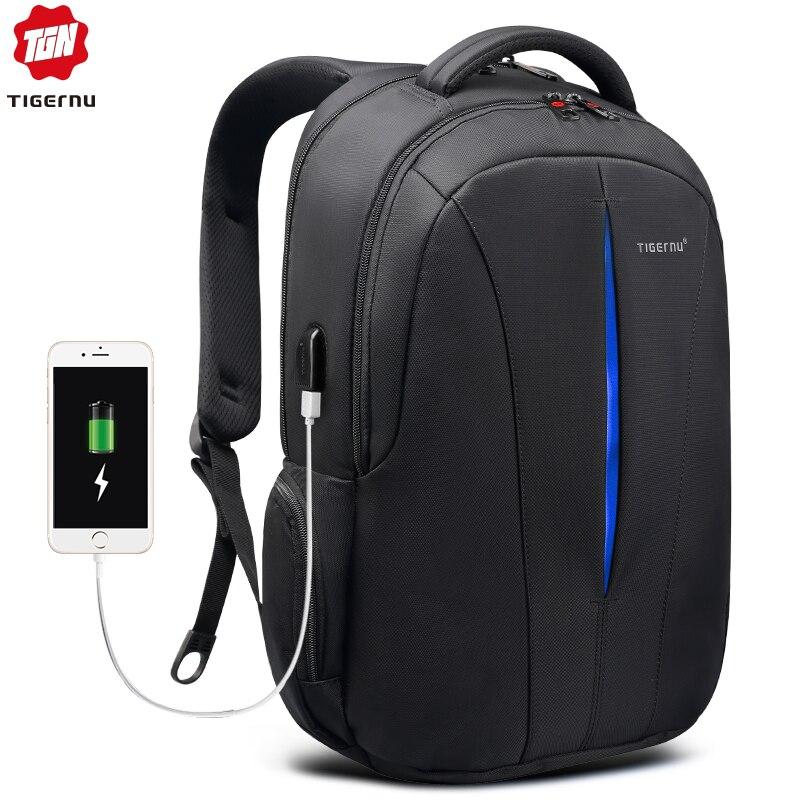Tigernu Backpack Student College Splashproof Nylon Backpack Men Women Material Escolar Mochila Quality Brand Laptop Bag Backpack