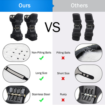 1pc and 1 Pair Power Joint Support Knee Pads Powerful Rebound Spring Force Knee Support Professional Protective Sports Knee Pad 6