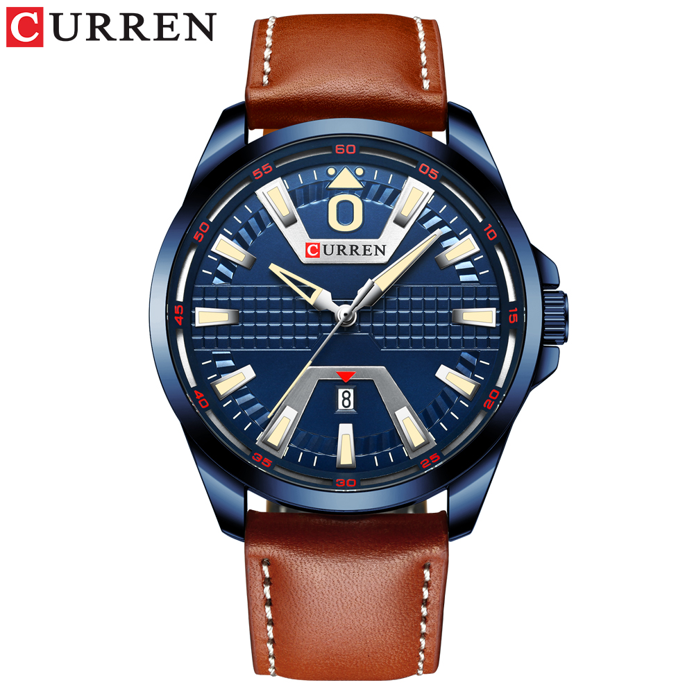 CURREN New Top Brand  Clock Watch Man Fashion Luxury Watch Brand Leather Quartz Business Wristwatch Auto Date Relogio Watches
