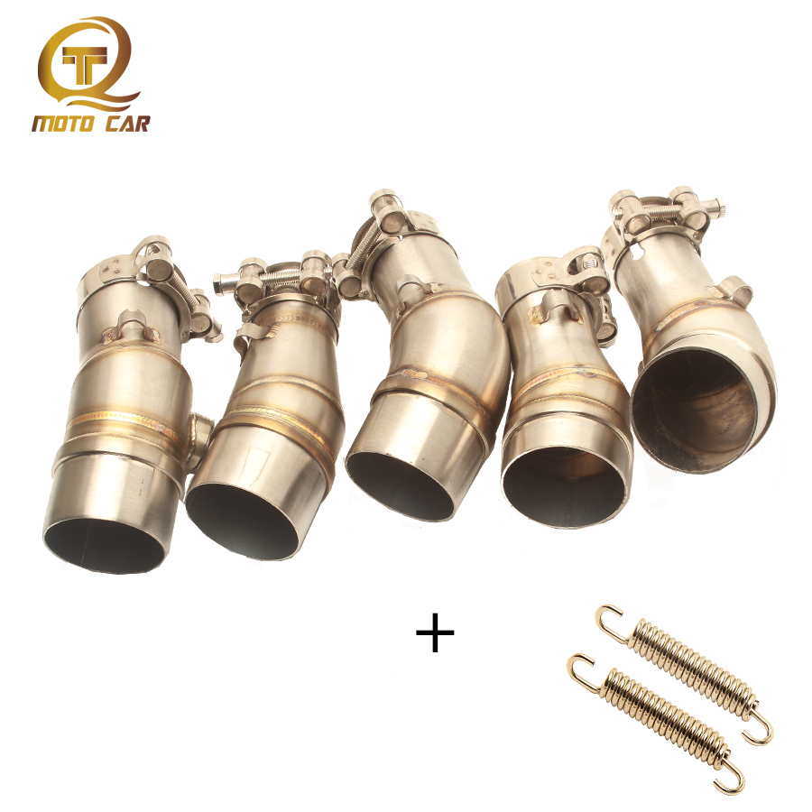 Motorcycle Exhaust Link Pipe Slip on Adapter Mid Tube Exhaust Muffler 51 for Kawasaki Ninja Z250 Z300 Z250SL ER6N R3 R25 Z900