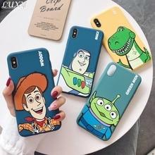 Lindo dibujo animado Toy Story caramelo caja del teléfono del tpu para el iPhone 7 7Plus 8 8 Plus, 6 s Plus 11 Pro X XS X Max Xr Woody Buzz REX cubierta suave