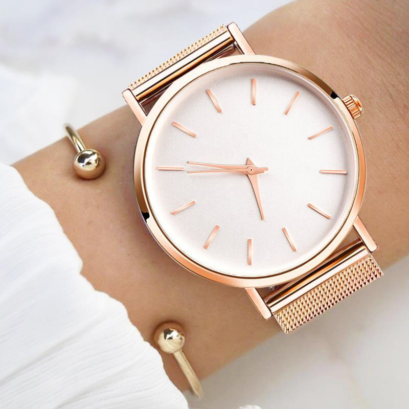 Women's Watches Rose Gold Simple Fashion WomenWrist Watch Luxury  Women's Watches Ladies Watch Women Bracelet Reloj Mujer Clock
