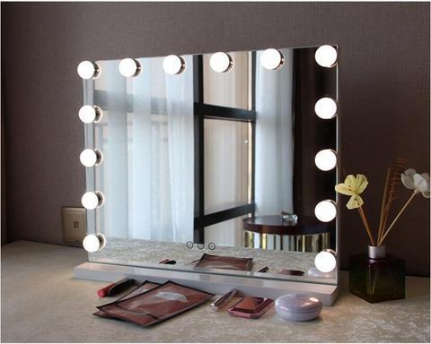 espelho cosmetico tela de toque ajustavel