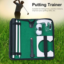 Travel Training Aids Portable Golf Putter Set Carry Case Tool Gift Practiced House Equipment Mini Ball Holder Indoor Easy Store