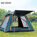 Автоматическая туристическая палатка на 3-4 человек, ультраяркая семейная беседка, водонепроницаемая, легко устанавливается