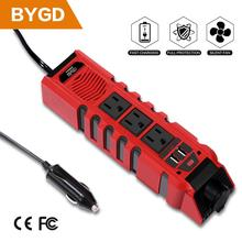 BYGD 300W Car Inverter DC 12V to 220V/110V AC Power Converter with 3 Charger Outlets and Dual 2.4A USB Ports Cigarette Lighter very beautiful power inverter dc 12v to 220v ac car inverter outlets with usb port charger travel portable converter for laptop