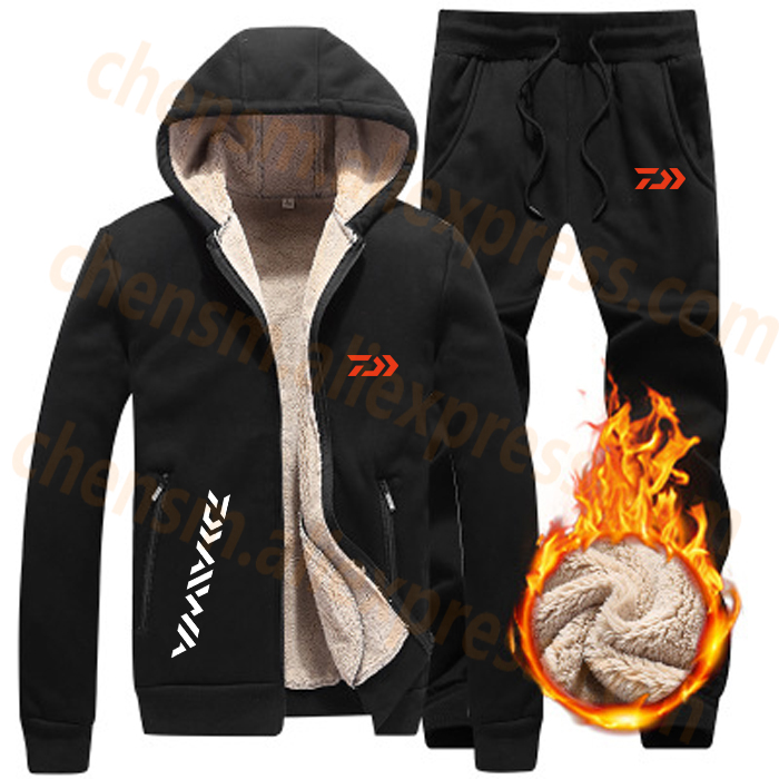 2020 DAIWA Dawa Fleece Fishing Clothing Set Spring Autumn Outdoor Sport Suits Hiking Fishing Shirt And Pants Men Fishing Jacket