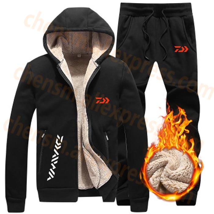 2020 DAIWA Dawa Fleece Fishing Clothing Set Spring Autumn Outdoor Sport Suits Hiking Fishing Shirt And