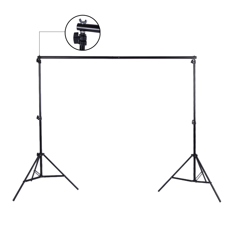 Image 2 - Andoer Photo Studio Background Support Backdrop Crossbar Kit with Two Clamps for Studio 200 * 300cm-in Photo Studio Accessories from Consumer Electronics
