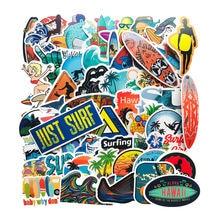 50 шт летние наклейки для серфинга с морскими волнами граффити